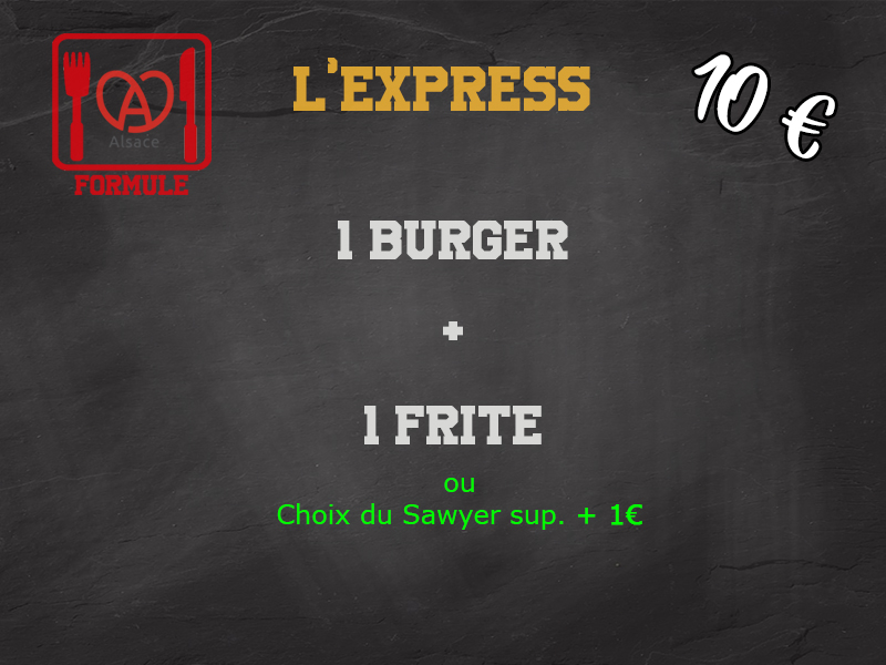 formule manger burger Au P'tit Sawyer - Food truck-éco responsable Strasbourg Alsace local